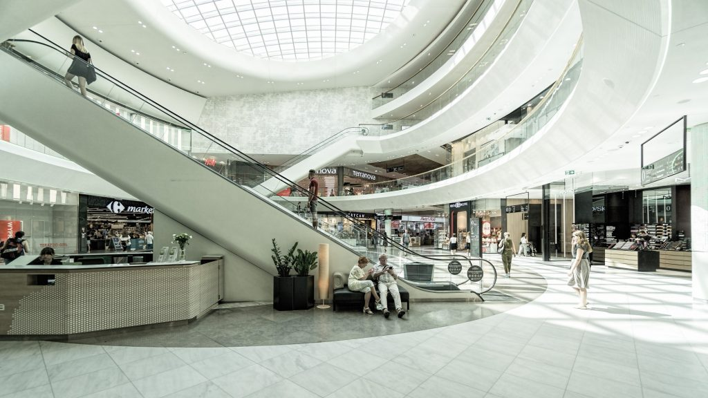 Jewelry stores in mall