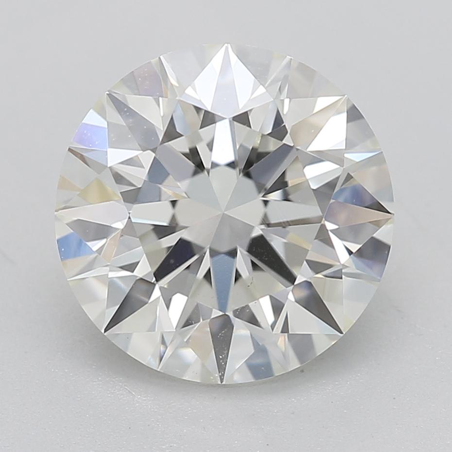 Round cut diamond 1.91 J SI1