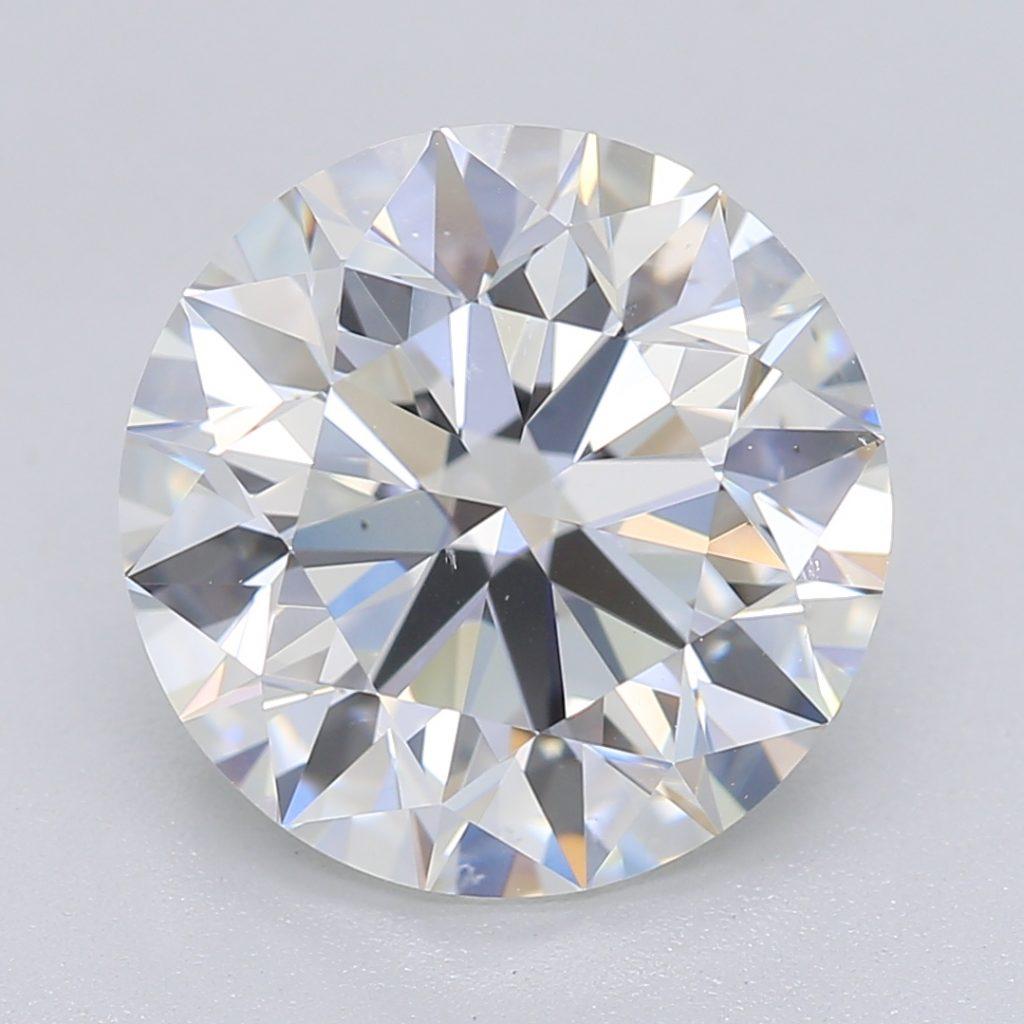 Round cut diamond 3.01 F VS2