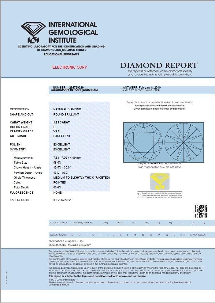 IGI certificate diamond