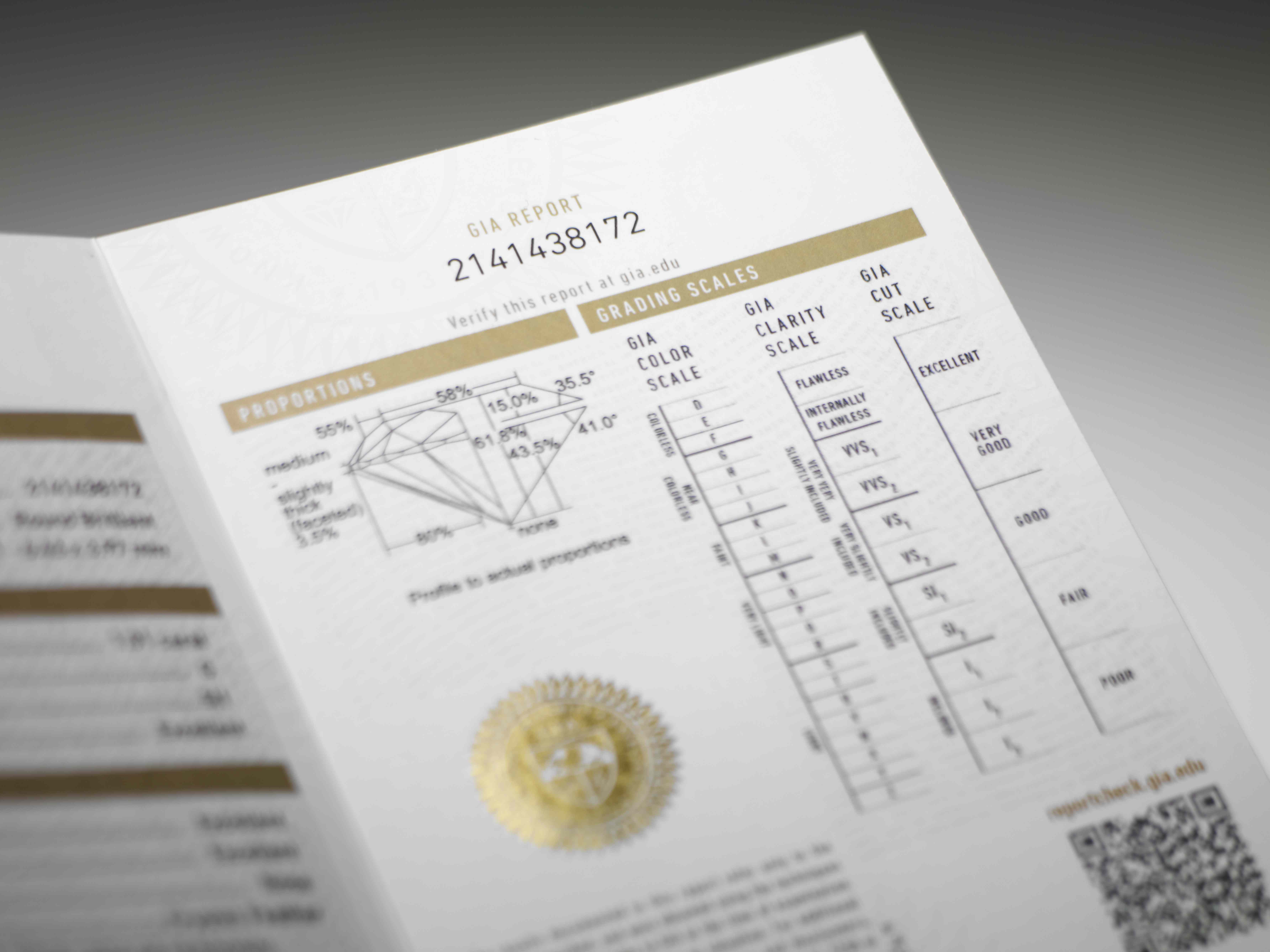 find the gia color scale in the gia report