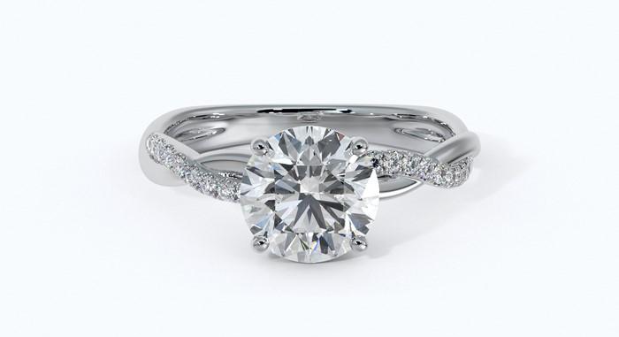 1 carat round cut diamond engagement ring cost