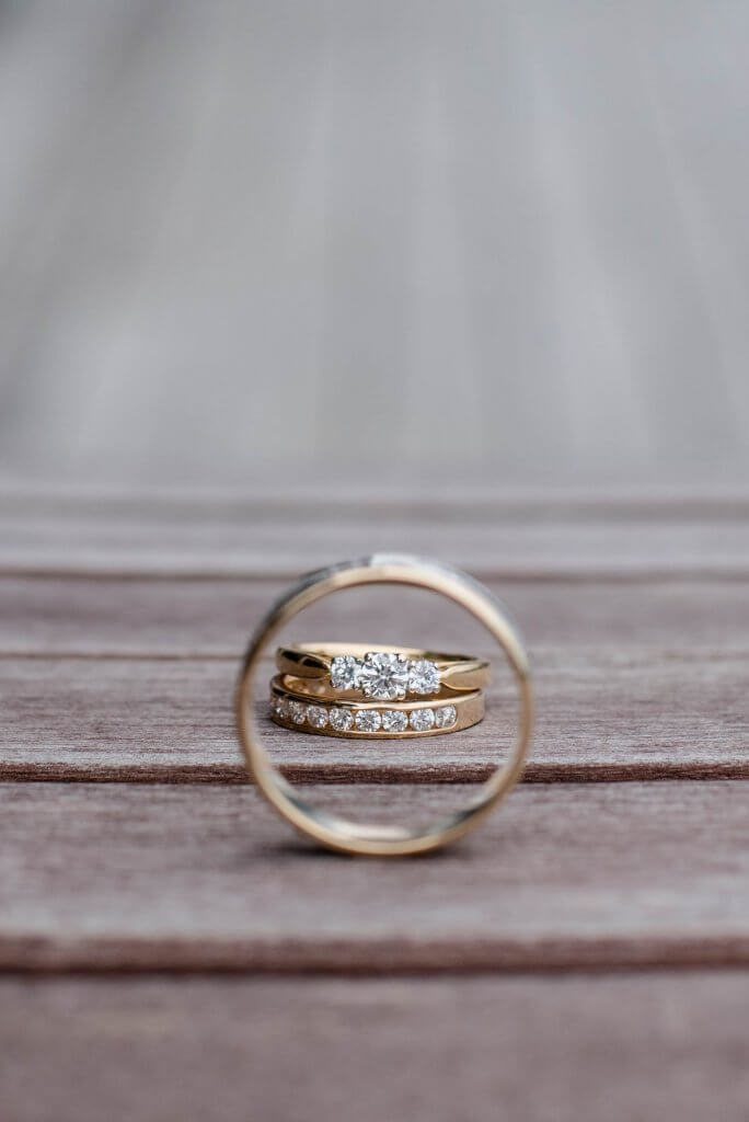 round 3 stone diamond ring and wedding ring - Engagement Ring 101 The Different Types of Ring Settings