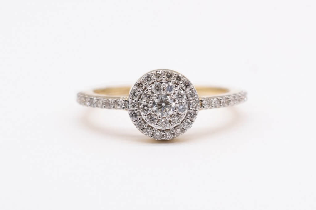 round cut diamond ring halo - The Cluster Setting