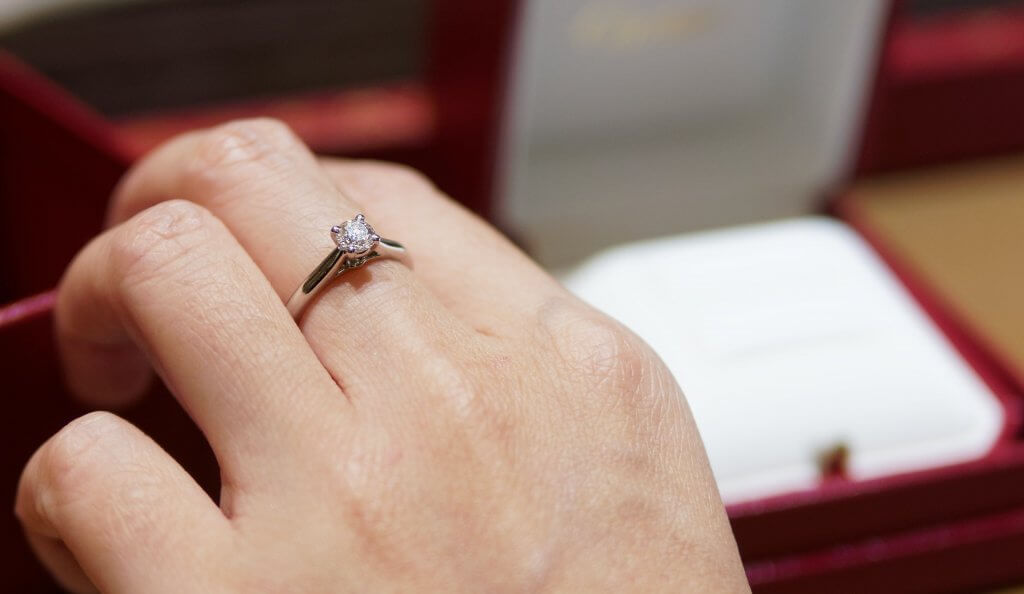 round diamond ring - The Cathedral Setting