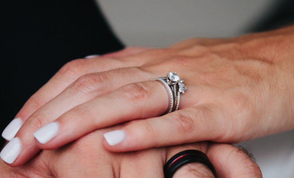round engagement ring - The Cathedral Setting