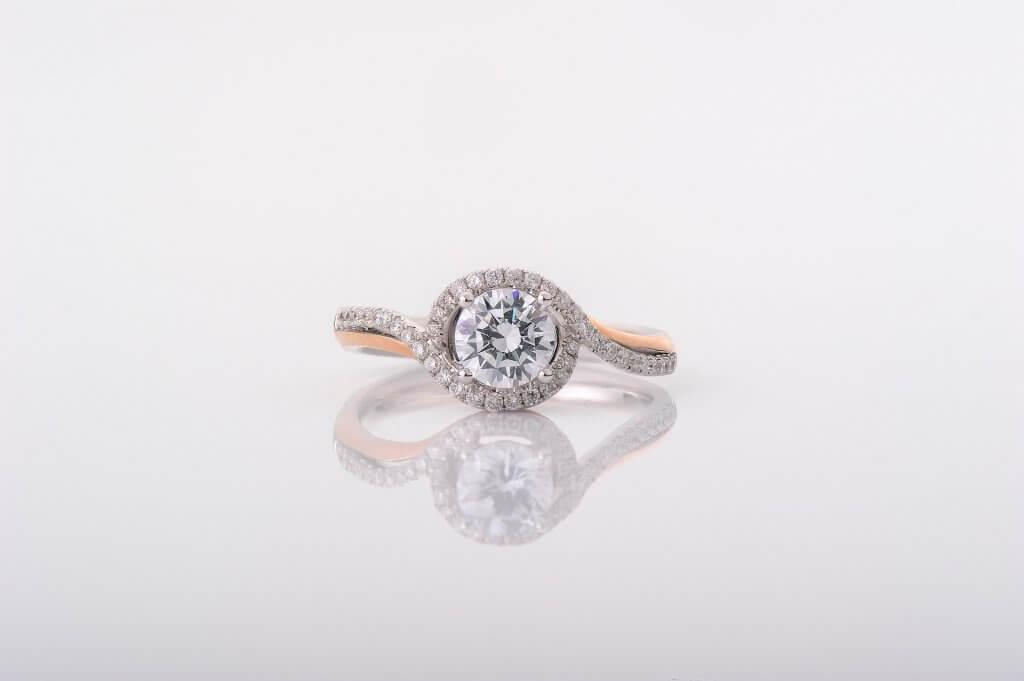 round halo twisted engagement ring - The Halo Setting