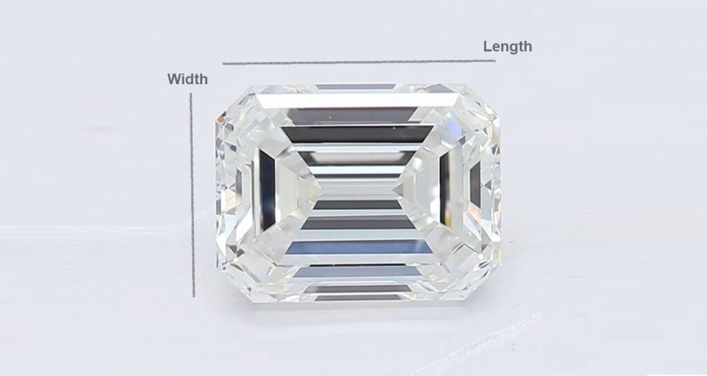 Emerald cut diamond - Understanding Diamond Proportion (Ratio)