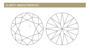 GIA Diamond plot Clarity Characteristics - The Four Cs of Diamonds