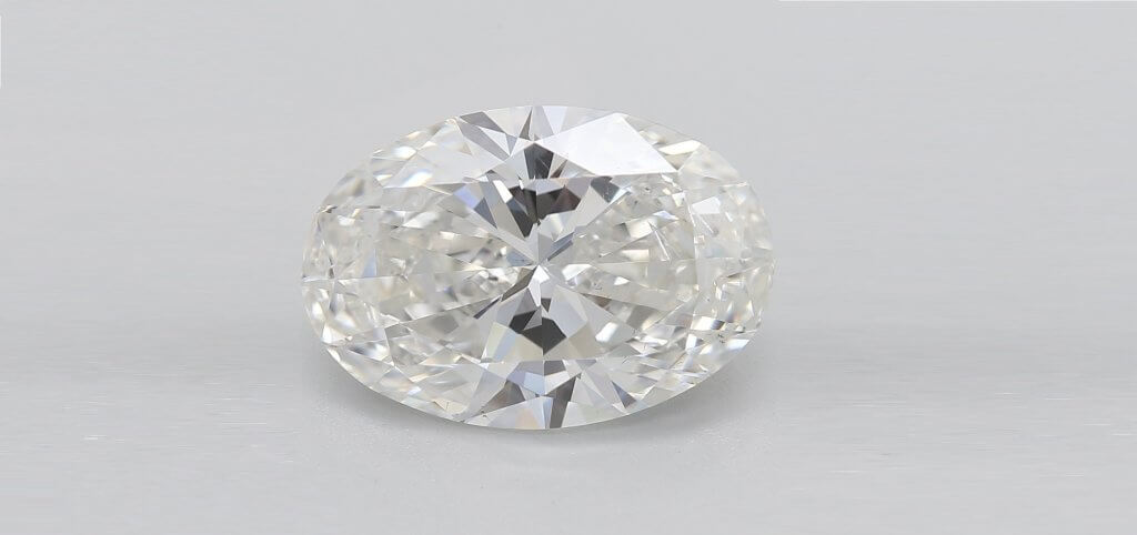 H color OVAL 3 carat diamond Everything You Need to Know About H Color Diamonds