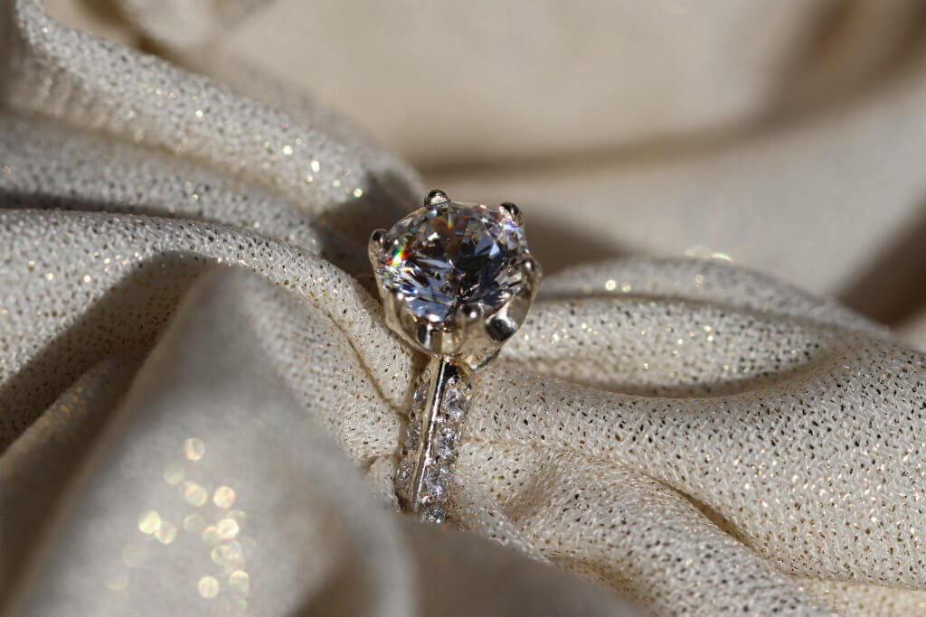 ROUND SOLITAIRE 6 PRONG PAVE ENGAGEMENT RING - Flawless Diamonds – Your Questions Answered