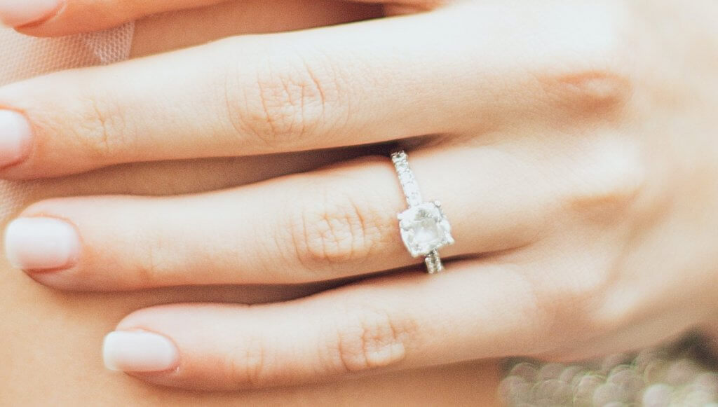 cushion cut diamond pave solitaire engagement ring - Everything You Need to Know About G Color Diamonds