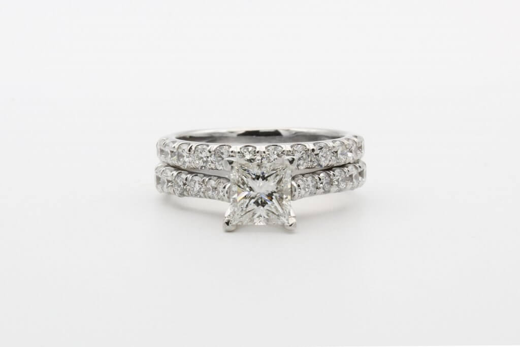 pave princess j color engagement ring - Everything You Need to Know About J Color Diamonds