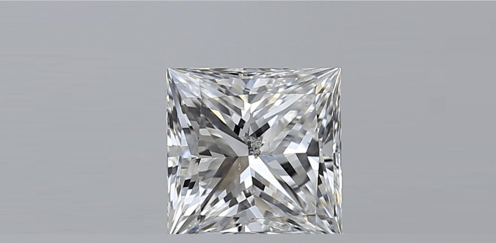 princess cut Diamond Clarity I1 and I2
