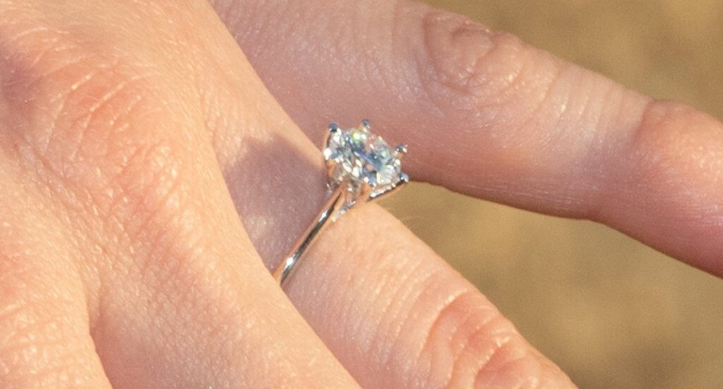 round cut diamond solitaire engagement ring - Everything You Need to Know About G Color Diamonds