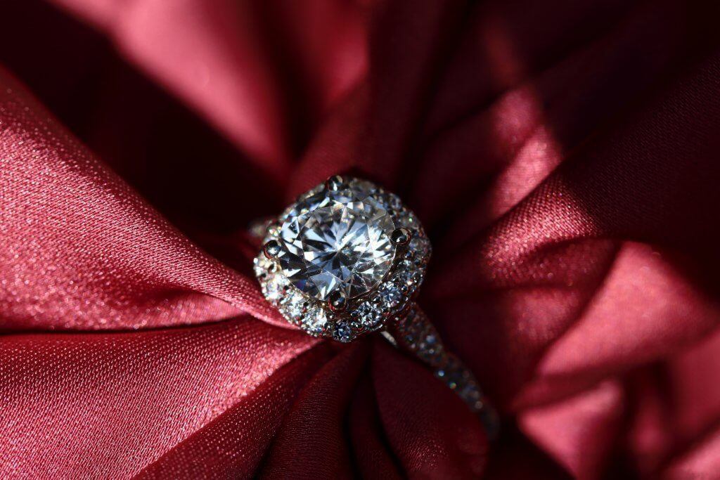 round cut halo pave engagement ring - Which Diamond Cut Sparkles the Most
