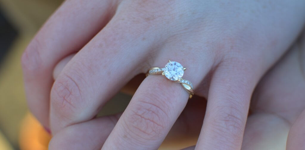 round twisted engagement ring - Everything You Need to Know About E Color Diamonds