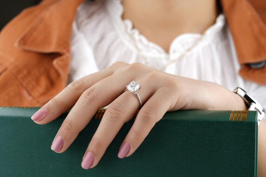 3 carat cushion cut diamond 4 prong solitaire engagement ring - What is the Most Expensive Diamond Cut